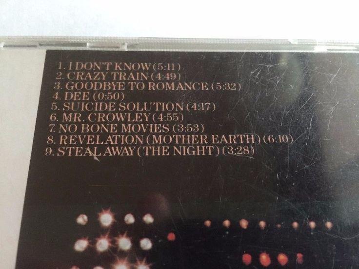 Blizzard Of Ozz Ozzy Osbourne CD Jet 1981 Heavy Metal Hard Rock No Front Insert