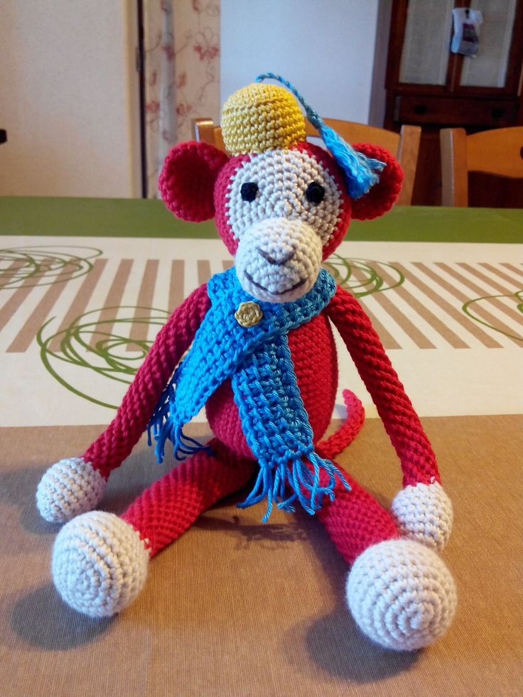 scimmietta amigurumi