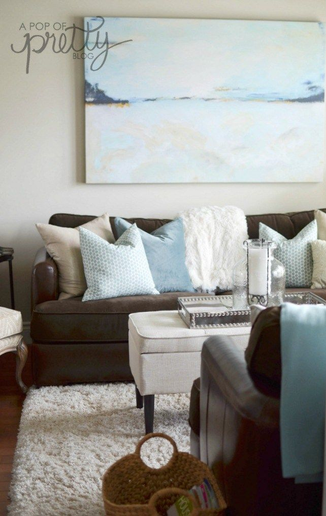Summer Decorating Ideas Canadian Bloggers Home Tour Brown Living Room Decor Brown Couch Living Room Living Room Decor Brown Couch Brown couch living room decor