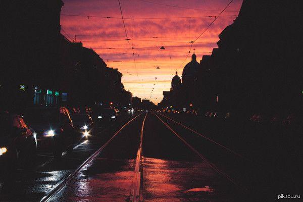Вчерашний закат в Петербурге