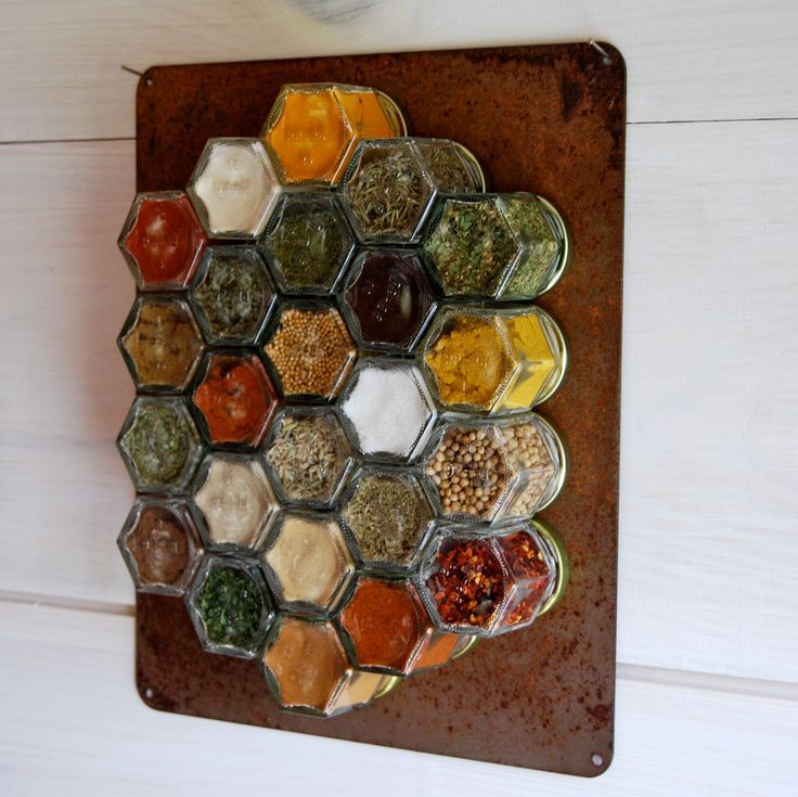 Rustic Home Decor Hanging Spice Rack 24 Empty