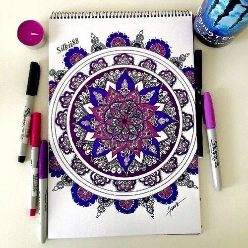 art drawing and mandala image