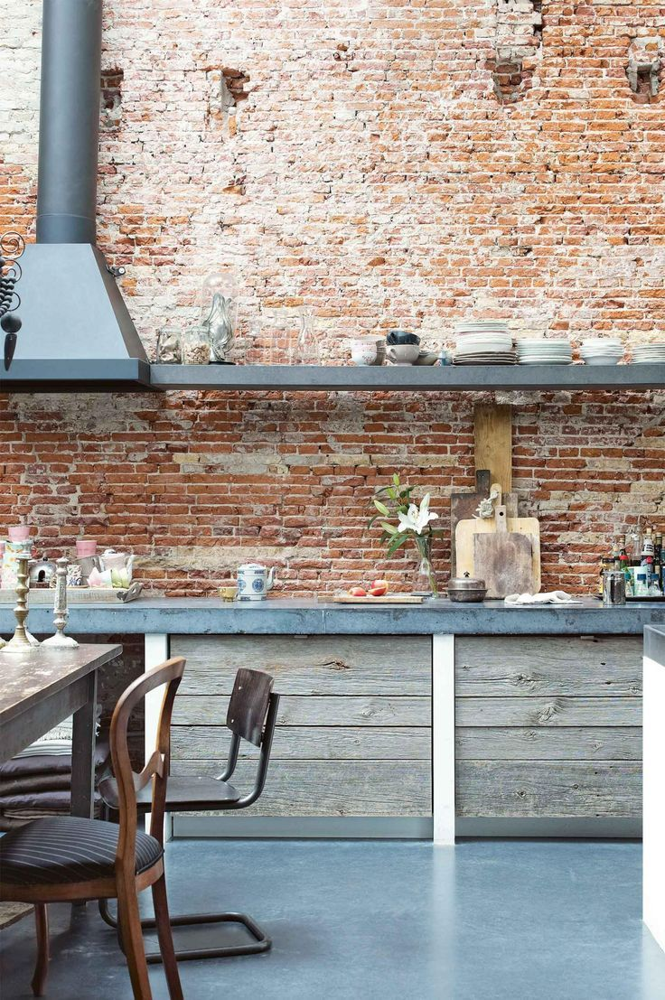 Rustic wall / interior design