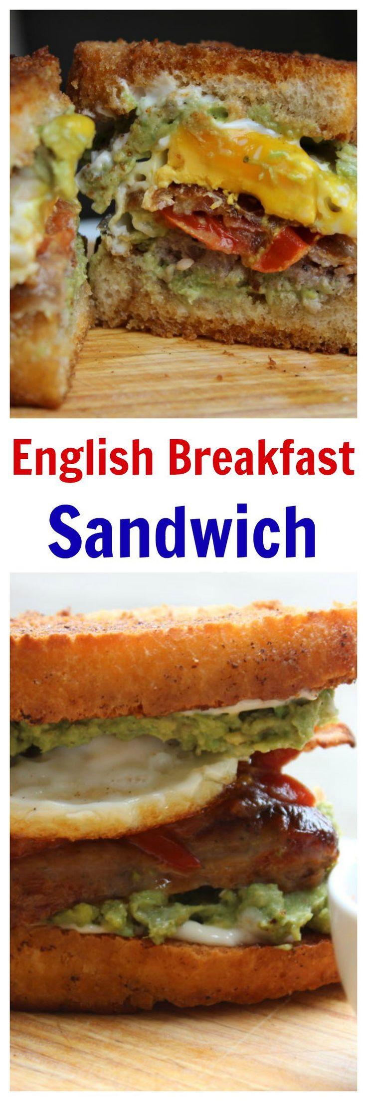 English Breakfast Sandwich. This full English breakfast in a sandwich ...