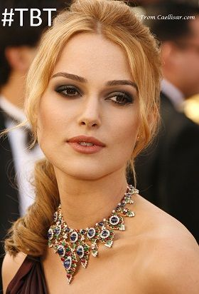 Keira Knightley wore a multi color Bulgari bib necklace at the 2006 Oscars.