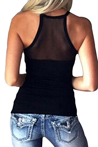 73491715a1d Mitario Femiego Women s Sexy Slim Fit Mesh Sheer See Through Long Sleeve  Party Shirt Blouse Tee Tops