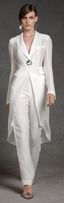 Creative Suits For The Girls White Wedding Sexy Pantsuit Ladies Pants Suits