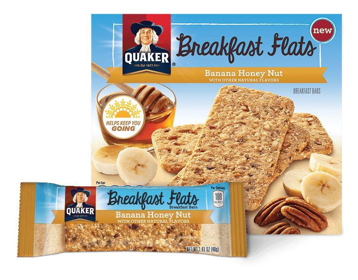 Product Snack Bars - Quaker Breakfast Flats, Banana Honey Nut | QuakerOats.com