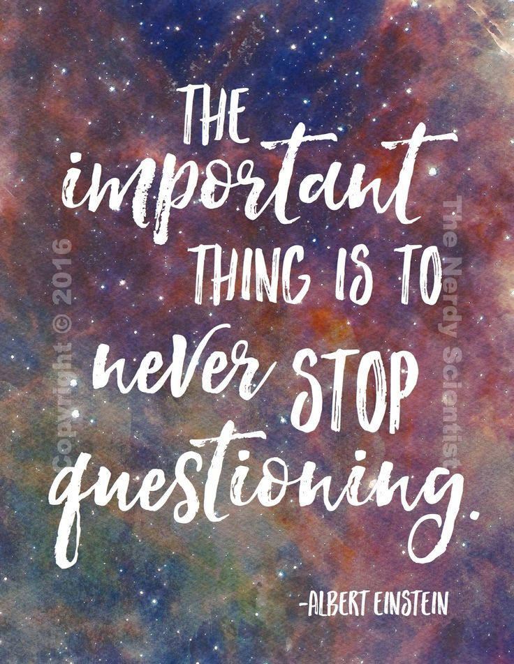 Quote set on beautiful galaxy watercolor background. Perfect for science classroom decor!