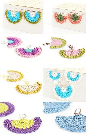 Pinara Design Handmade Bohemian Chic Crochet Lace Art Jewelry