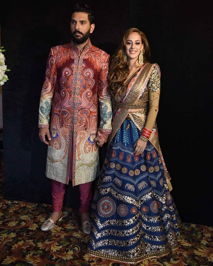 Check out the beautiful pictures from Yuvraj Singh and Hazel Keech from their wedding reception!  #YuvrajSingh #HazelKeech #YuvrajHazelWedding #celebritieswedding #celebritywedding #wedding #bollywoodwedding #bride #groom #weddingtime #bollywood #bollywoodstyle #bollywoodactress #bollywoodactor #actress #actor #filmywave