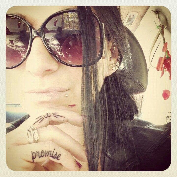 My finger tattoos