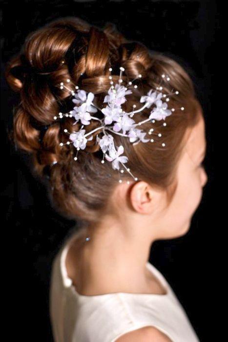 Long Brown Hairstyles Flower Girl Hairstyles Flower
