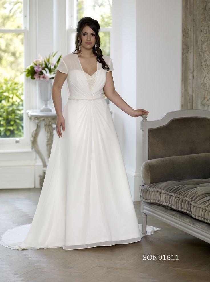 Shop Affordable A Line Long Sweetheart Short Sleeve Chiffon Satin Court Train Corset Back Dress At Junebridals Over 8000 Chic Wedding Bridesmaid