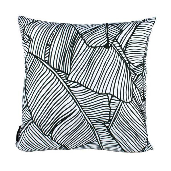 Stoneleigh Amp Roberson Black Amp White Banana Leaf Cushion