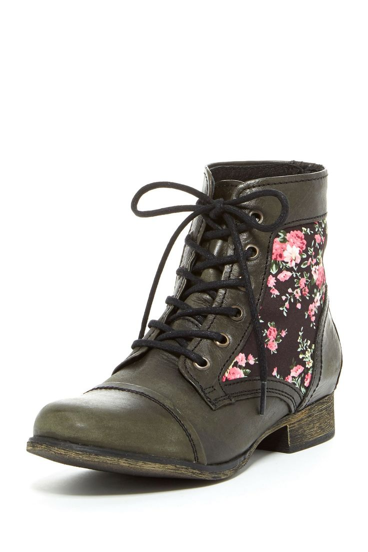 Floral lace up boots - so 90s