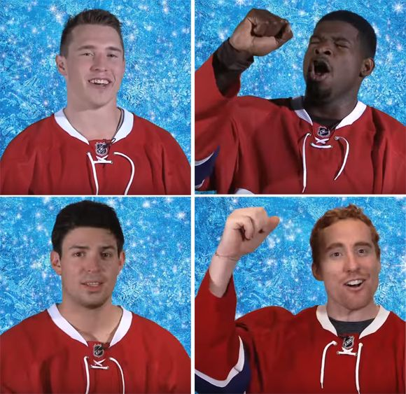 Le BUZZ - Les Canadiens de Montréal chantent Let it Go | HollywoodPQ.com
