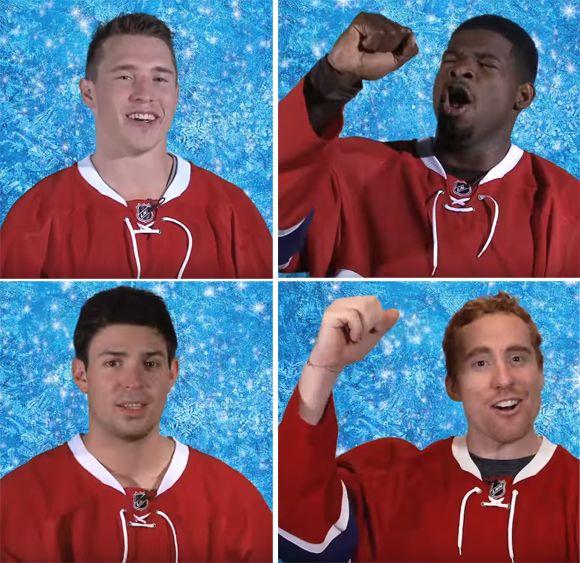 Le BUZZ - Les Canadiens de Montréal chantent Let it Go   HollywoodPQ.com