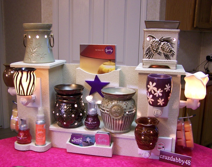 how to build a custom scentsy plug in display