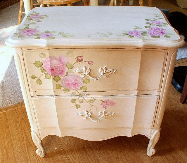 French Painted night stand by kimberlyannryan, via Flickr