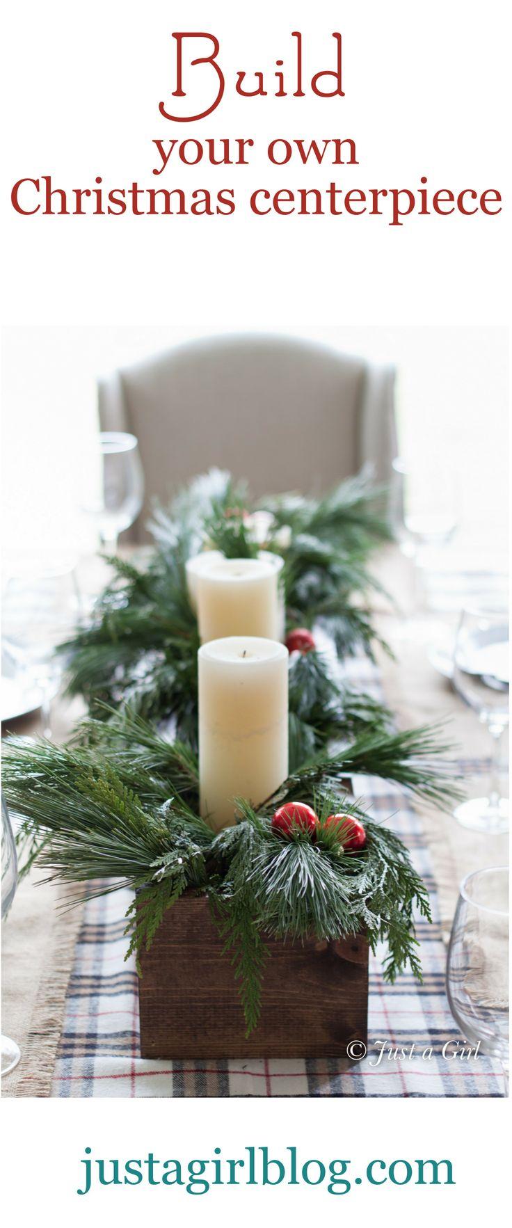 Christmas table #diy   Christmas   Pinterest   Christmas centerpieces, Christmas and Christmas decorations