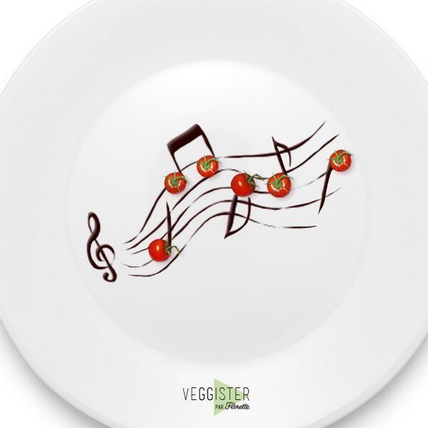 Laissez-vous transporter par les savoureuses notes venues du potager... #Veggister #FoodArt