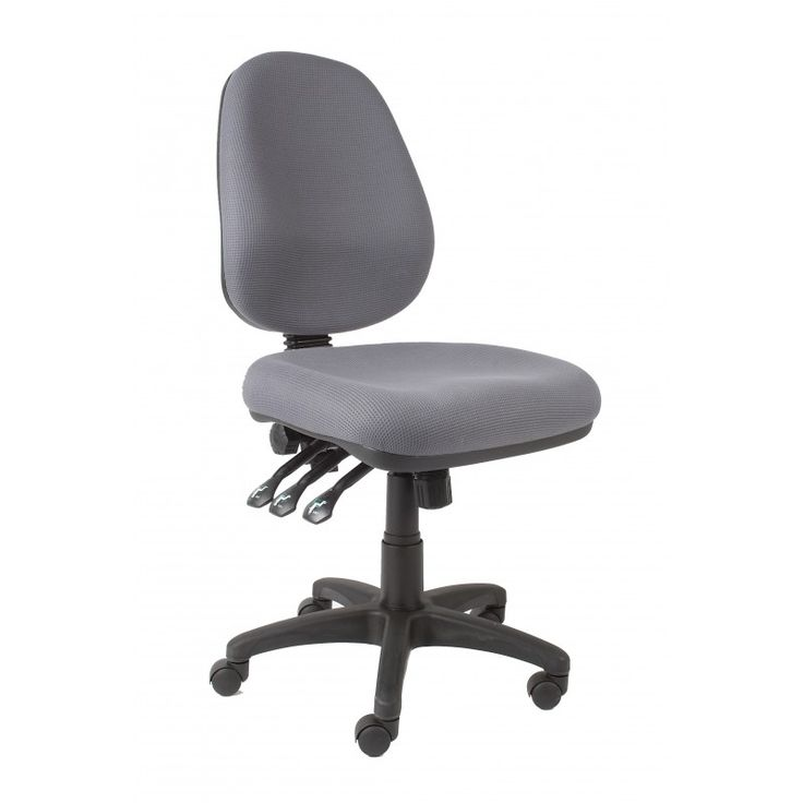 A high back chair with a pronounced lumbar and back support which has independent seat and back tilt. Ships Australia Wide.Shop With Us Today!