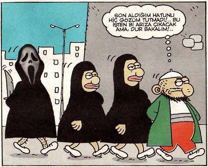 Son aldığım hatunu hiç gözüm tutmadı!.. Bu işten bir arıza çıkacak ama, dur bakalım!..  #karikatür #mizah #matrak #komik #espri