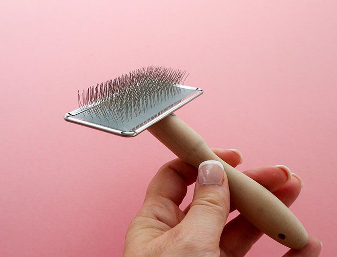you can use a cat brush for crafting - mypoppet.com.au