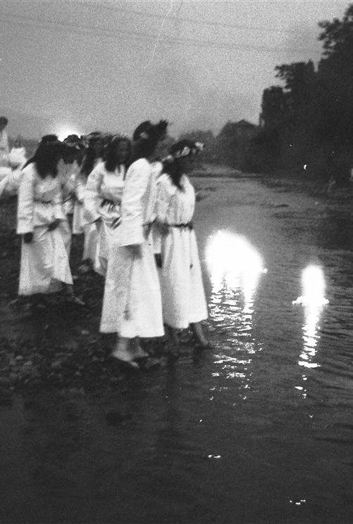 celebrations of the Noc Kupały (Kupala Night) in Skoczów (Poland), 70s (source)