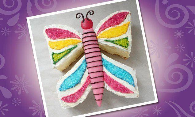 Maak van biscuitbeslag een prachtige #taart. Deze vlindertaart is bijna zonde om op te eten. Kijk voor het #recept op: http://www.oetker.nl/nl-nl/recept/r/vlindertaart.html? #vlinder