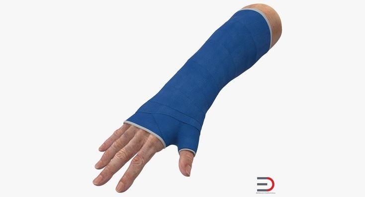 Fiberglass Cast Wrist 3D model