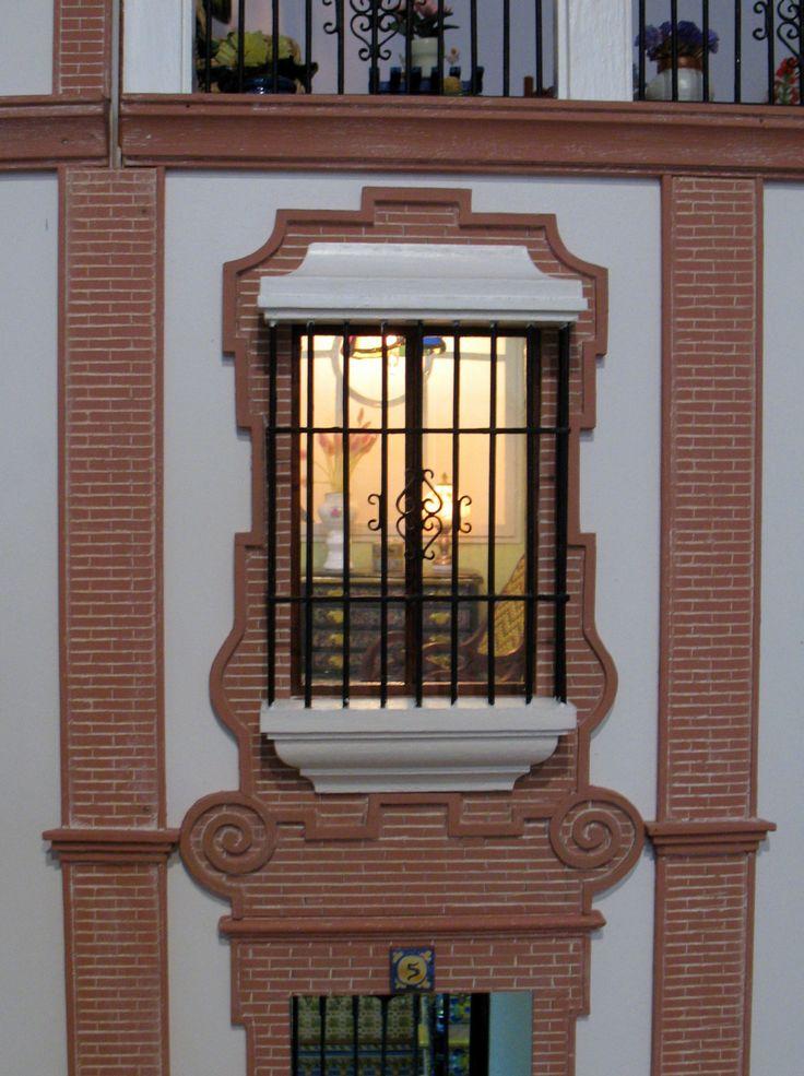 Casa popular Andaluza ventana con reja