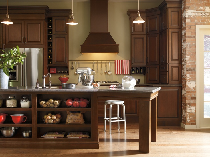 who said that rustic kitchens had to be in hickory for instance choose a cherry kitchen wall