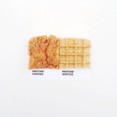 #pantonepairings: Pantone Chicken & Waffles... and other creative food/Pantone combos