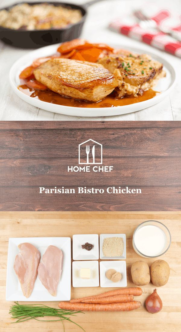 Parisian Bistro Chicken with dauphinoise potatoes and Vichy carrots