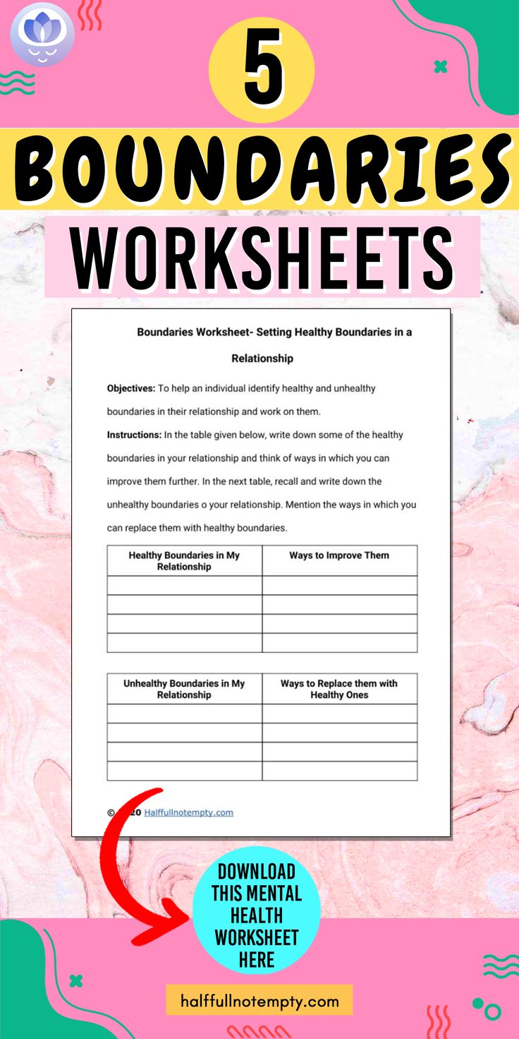 healthy relationships worksheets for youth pdf