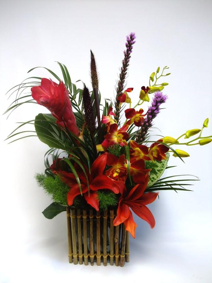 Best tropical floral arrangements images on pinterest