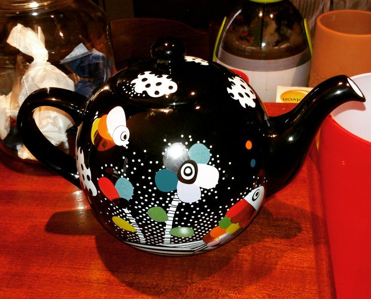 Teapot #pot #teatime #black #silver #pilones