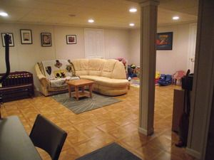 Lovely Basement Finishing before and after