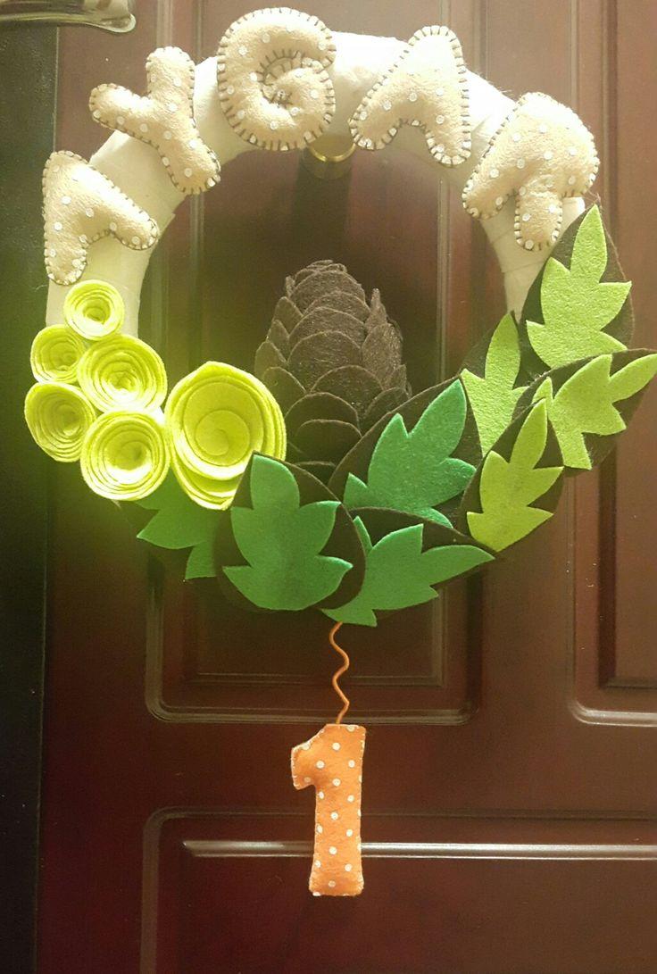 Felt wreath/Keçe kapı süsü