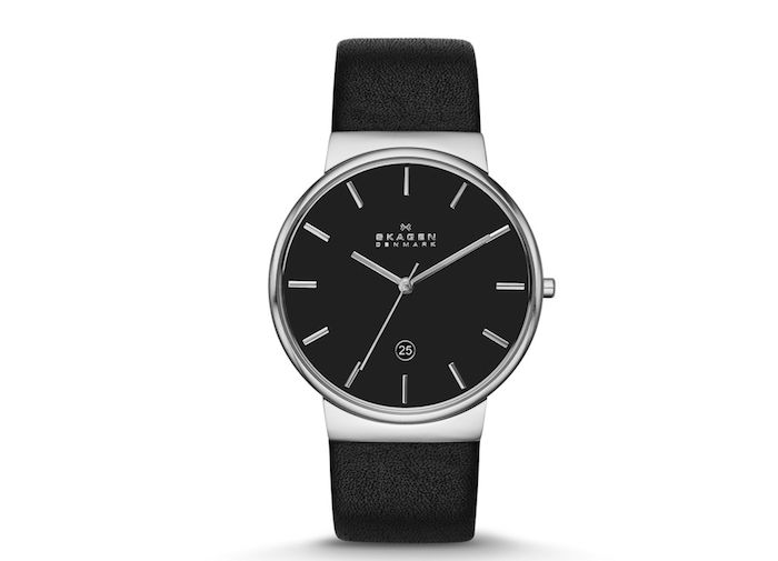It's hard to find a nice watch these days that looks good with formal wear and doesn't cost a ton of money, but the Skagen Ancher Men's Leather Watch proves us wrong.