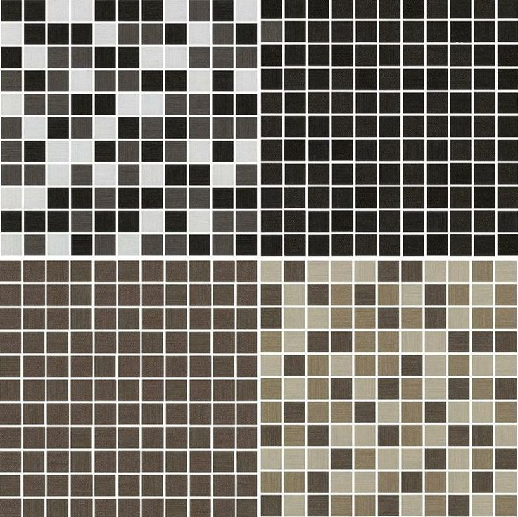Tex Mosaics. Four colours available: Gris Mixed, Black, Brown and Beige Mixed #HDC