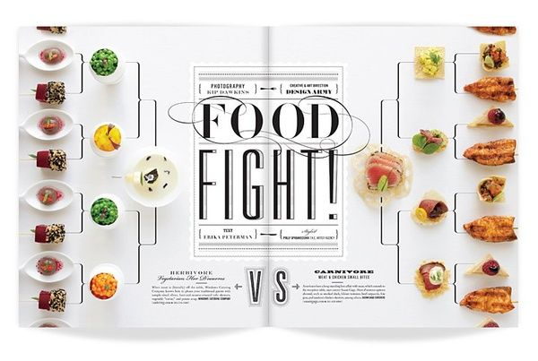 Magazine Design, Great for the table of contents of your very own food or cooking magazine.