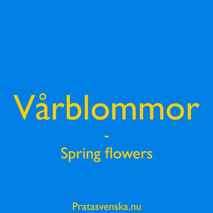 [vå:r²blọm:or]  #welearnswedish #pratasvenska #learn #swedish #svenska #quote #flowers