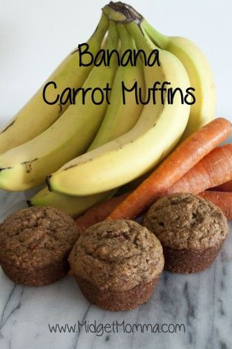Banana Carrot Muffins | Perfect for breakfast and snacks | MidgetMomma.com