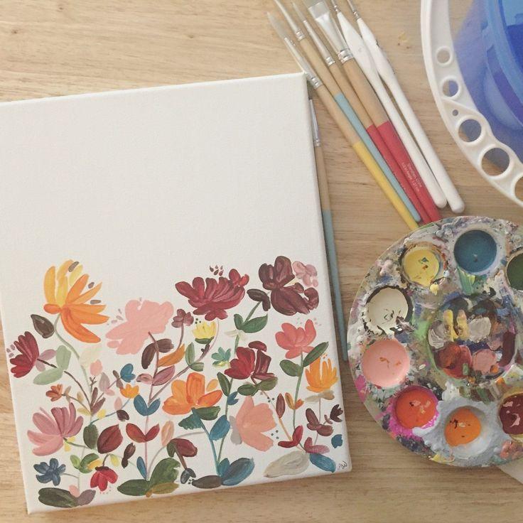 Painting Ideas On Canvas Aesthetic Custom Canvas Art Nursery Canvas Art Small Canvas Art