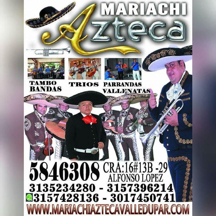 MARIACHI AZTECA EL MEJOR DE VALLEDUPAR CON CALIDADSERIEDAD Y PUNTUALIDAD MAS DE 25 AÑOS DE  EXPERIENCIA SIN PAYASADAS http://ift.tt/1Ss6ynr CONTRATOS  WASHAP 3157428136 - 3017450741 - 3135234280 - 5846308 INTEGRANTES 7 MARIACHIS  8CANCIONES MAS LA ÑAPA  REGALAMOS RAMO DE ROSAS  MAS SHOW DE VALLENATOS Y SALSA VARIADOS MARIACHI AZTECA EL MEJOR DE VALLEDUPAR CON CALIDADSERIEDAD Y PUNTUALIDAD MAS DE 25 AÑOS DE  EXPERIENCIA SIN PAYASADAS http://ift.tt/1Ss6ynr CONTRATOS  WASHAP 3157428136…