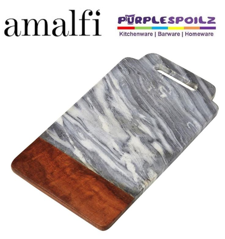 AMALFI RECTANGULAR MARBLE SERVING BOARD Cheese Entree Platter Tray 20 x 42cm