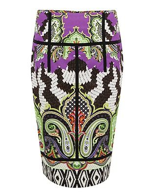 ASOS Fashion Finder | Green Printed Pencil Skirt